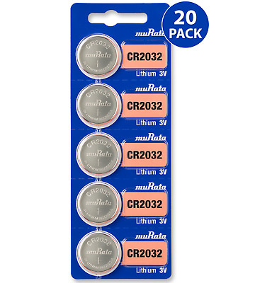 Sony CR2032 3V Lithium Coin Cell Battery (20 Batteries) - Tracking Included!