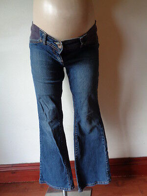 Next Maternity Blue Under Bump Bootcut Jeans Size 10