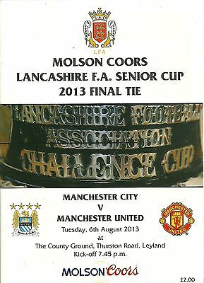 Football programme:Manchester.United v Man.City,Lancashire Senior Cup Final 2013