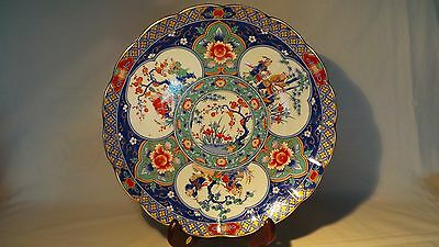 Japanese/chinese Blue Famille Porcelain Charger