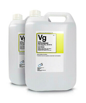 Glycerol ( Glycerine ) 99.5% Vegetable 2 x 5 Litre Container G995V High Purity