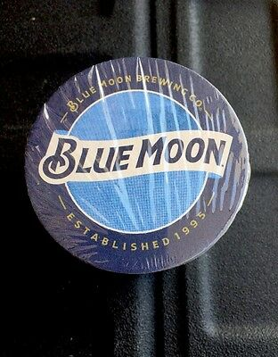 "New! Blue Moon Brewing Bar Beer Cardboard Classic Coasters  Lot of ""50"""