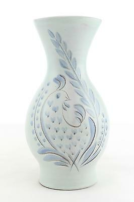 An Upsala Ekeby Anna Lisa Thomson 656 vase 1950's Swedish pottery bird design