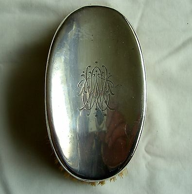 Silver Gents Clothes Brush Hallmarked Silver Backed Henry Stratford Sheffield