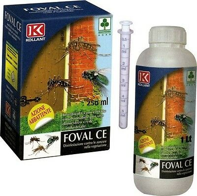 Insecticide Flies Mosquitoes Concentrated Foval Ce 250 Ml 1 Lt Cypermethrin