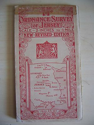 Ordnance Survey Map of Jersey New Revised Edition 1914
