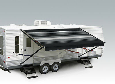 Carefree Pioneer RV Awning 18' Black and Grey (complete with arms)