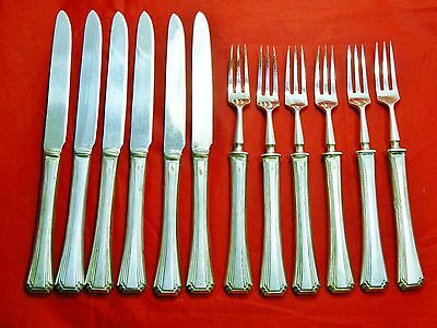 Imperial Russian 875/1000 Silver 84 Set of Six Dessert Forks & Knifes 450 g.