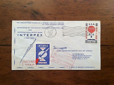 First Combined Rocket and Jet Airmail Commerative  Cover