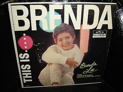 This is...BRENDA - Brenda Lee - 1960 Decca#DL 4082 Lp #1 Hit I Want To Be Wanted