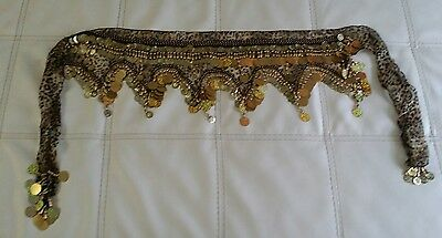 Hand Made Belly Dance Dancing Costume Hip Skirt Scarf
