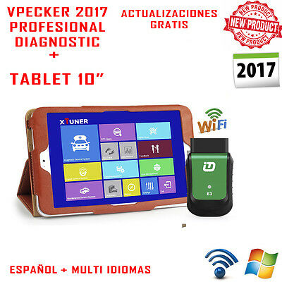Equipo De Diagnostico Profesional Vpecker 2017+ Tablet 10 / Wifi / Español