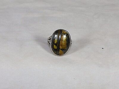 Vintage Sterling Silver Tiger's Eye Ring Size 5 3/4