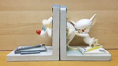 Official Warner Bros. Pinky and the Brain Time Machine Bookends *Repaired*