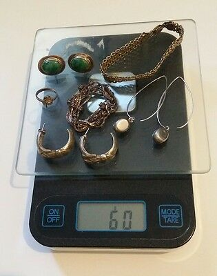 Lot of  Vintage Sterling Silver Jewelry Scrap and or not  60g