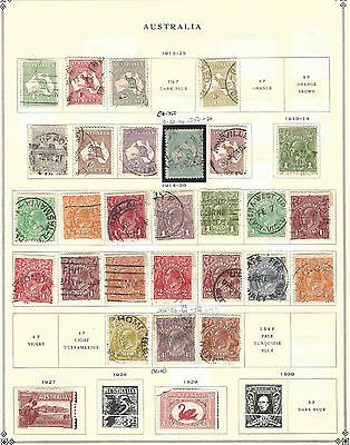 60+ Different Early Australian Stamps Mh & Used Australia