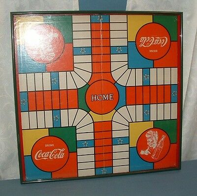 Vintage Coca Cola Professional Framed Game Board - Good Condition - Coke