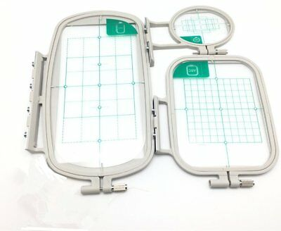 3 Piece Embroidery Hoop Set for brother SE350 SE400 PE500 machine