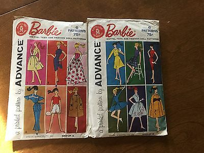 Vintage Advance Barbie Pattern Lot of 2 Group A and Group B!