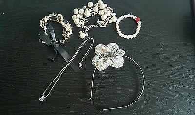 Fashion jewellery 5 pieces (bracelets, necklace, head piece) free express ship