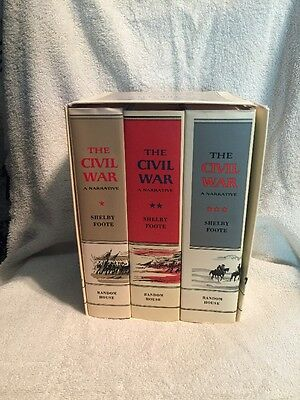 The Civil War A Narrative 3 Books Set By Shelby Foote