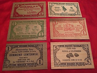 LOT OF 1938 WOODEN NICKLE BILLS VERY RARE (5 Day Auction)