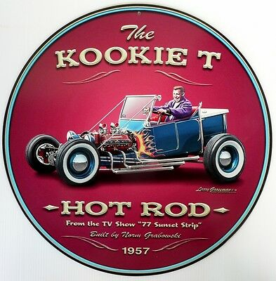 The Kookie T - Hot Rod -1957.  All Weather Metal Sign Aged Look