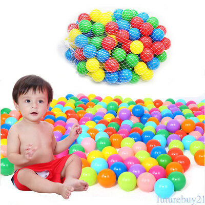 50pcs Kids Baby Colorful Soft Play Balls Toy for Ball Pit Swim Pit Ball Pool Q8Y