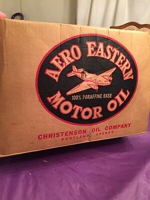 Aero Eastern Motor Oil Can 2 Gallon Portland Nice Vintage Old Shipping Box Only