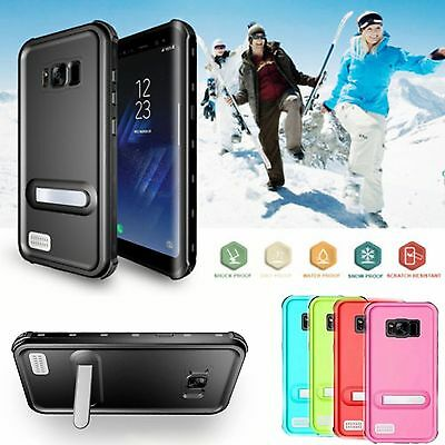 Waterproof Shockproof Stand Hard Slim Case Cover  For Samsung Galaxy S8/S8 Plus
