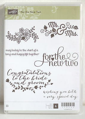 Stampin Up - For the New Two (Rubber)  - USED
