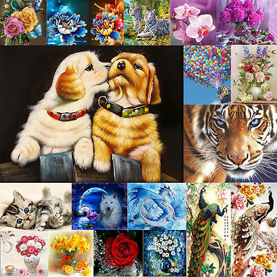 DIY 5D Diamond Embroidery Rhinestone Cross Stitch Painting Home Decor Animal
