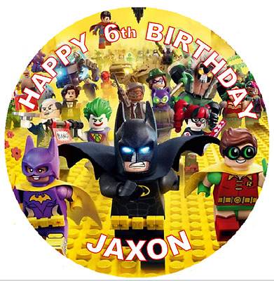 BATMAN LEGO KID BIRTHDAY Personalised Edible Icing Cake Topper Decoration Images