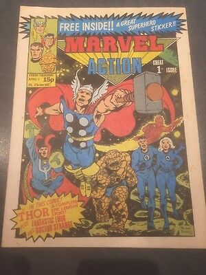 MARVEL ACTION UK MARVEL COMIC ISSUE No1 - 1981