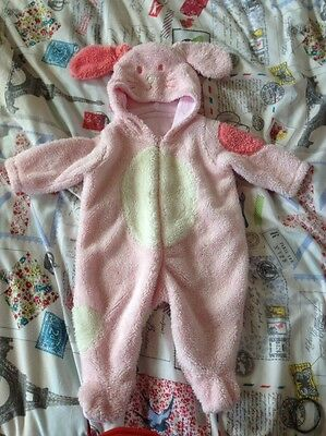 Baby All In One Fleece Suit, Age 3-6 Months