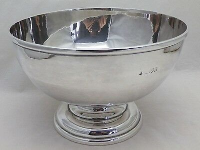 Antique Solid Silver Large Rose Fruit or Punch Bowl 606 Grams London 1897