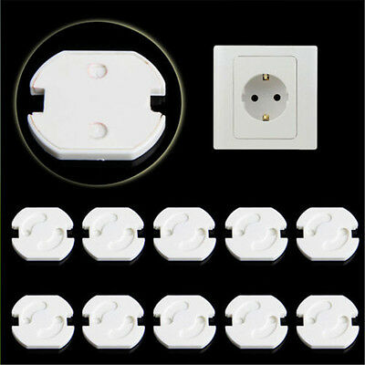 10pcs EU Power Socket Outlet Plug Protective Cover Baby Child Safety Protector/