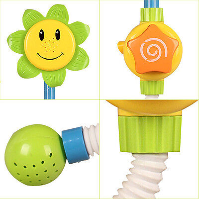 Bathing Toys Sunflower Water Flow Spray Shower Head Baby Kids Toddler Play Toy