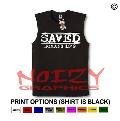 Saved #4 10:9 Christian SLEEVELESS Shirt Jesus Religious Muscle Tee Hip Hop Rock