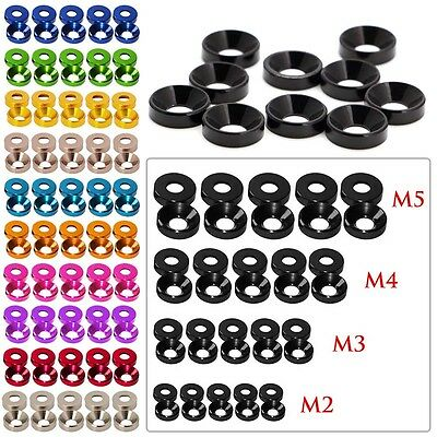 Aluminum M2 M2.5 M3 M4 M5 Anodized Countersunk Head Bolt Washers Gasket 10PCS