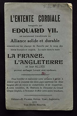 1916 French English Phrase Book for the Allies