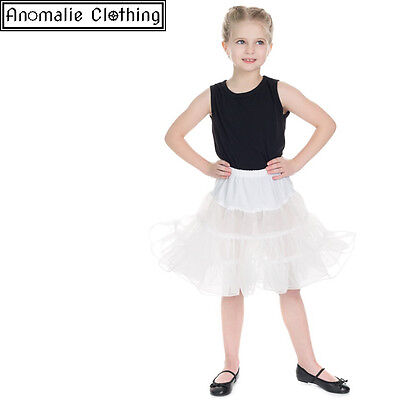 Hearts & Roses Kids Petticoat in White