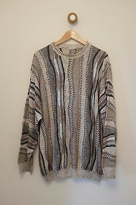 Vintage mens 90s ugly coogi crosby style jumper