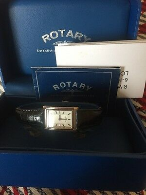 Rotary Ladies Watch Black Strap Never Worn In Box
