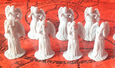 Rare Lot Of 8 Doctor Who Weeping Angel Mini Figures Worldwide Shipping