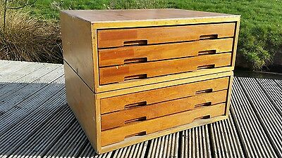 Vintage 50s 60's A2 Plan Chest Drawers Map Industrial artist, architect shop fit