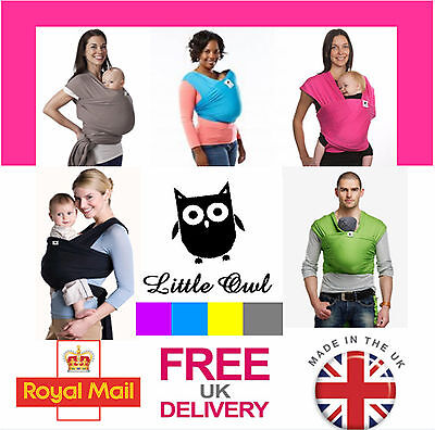LITTLE OWL Silk Touch extra light BABY SLING WRAP carrier - MANY COLOURS!!!