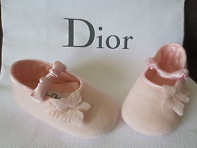 NEUF... chaussons rose BABY DIOR  ( chaussons ballerines fille ) 18