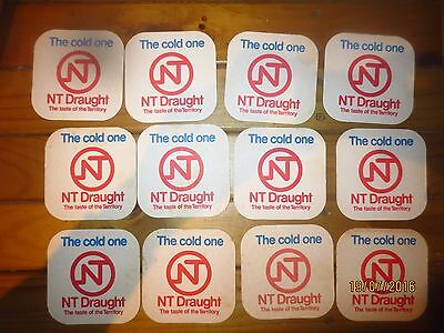 12 x  N.T. DRAUGHT BEER,Northern Territory,  collectable COASTERS
