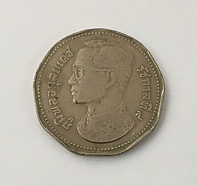 Thailand King Bhumipol Bht.5 Year 1972 Collectible Coin